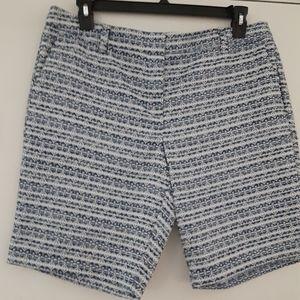 Liz Claiborn navy summer Tapestry shorts sz 14